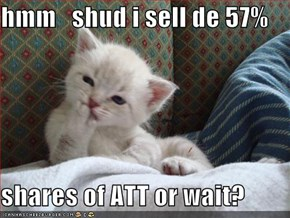 hmm   shud i sell de 57%  shares of ATT or wait?