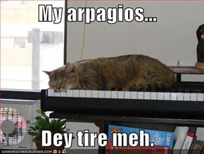 My arpagios...  Dey tire meh.