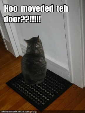 Hoo  moveded  teh  door??!!!!!