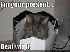 I'm your present...  Deal wit it