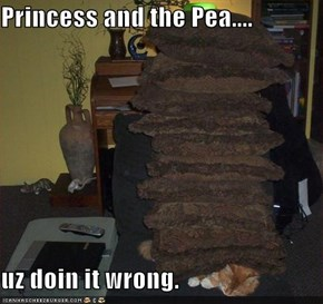 Princess and the Pea....  uz doin it wrong.