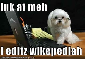 luk at meh  i editz wikepediah