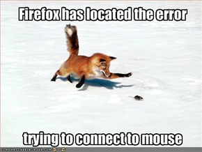 Firefox has located the error
