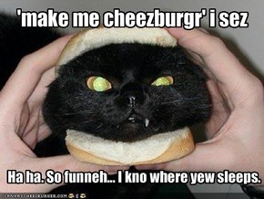 'make me cheezburgr' i sez