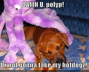DAMN U, polyp!  Ur not gonna take my hotdogz!