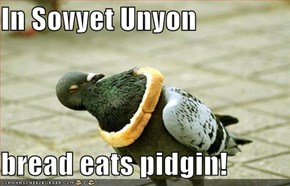 In Sovyet Unyon  bread eats pidgin!