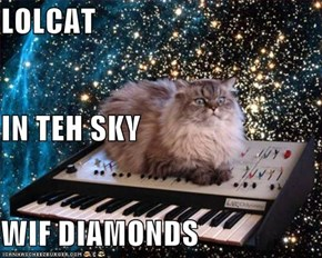 LOLCAT IN TEH SKY WIF DIAMONDS