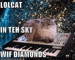 LOLCAT IN TEH SKY WIF DIAMONDS