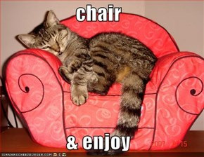 chair  & enjoy