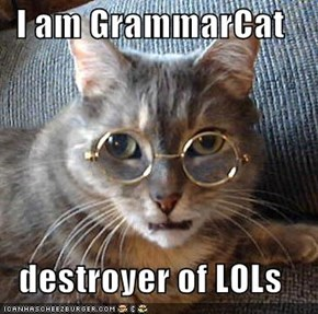I am GrammarCat  destroyer of LOLs