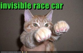 invisible race car