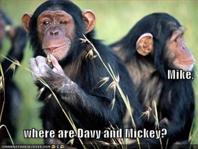 Mike, where are Davy and Mickey?