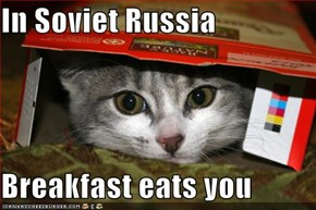In Soviet Russia  Breakfast eats you