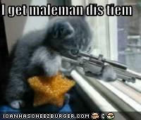 I get maleman dis tiem