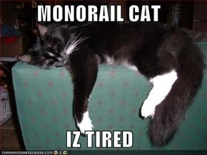 MONORAIL CAT  IZ TIRED