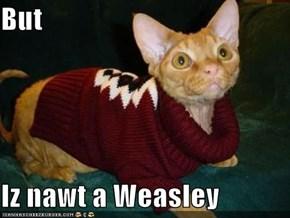 But  Iz nawt a Weasley