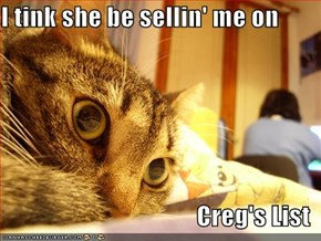 I tink she be sellin' me on  Creg's List