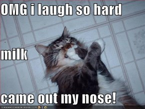 OMG i laugh so hard  milk came out my nose!