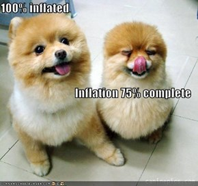 100% inflated Inflation 75% complete