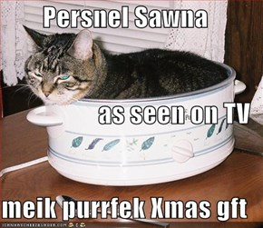Persnel Sawna as seen on TV meik purrfek Xmas gft