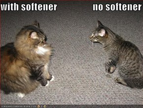 with softener                  no softener