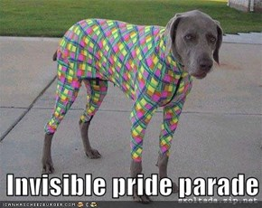 Invisible pride parade