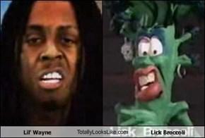 Lil' Wayne TotallyLooksLike.com Lick Broccoli