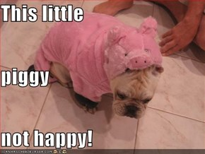 This little piggy not happy!