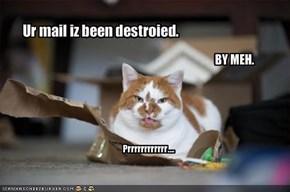 Ur mail iz been destroied.