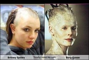 Britney Spears TotallyLooksLike.com Borg Queen