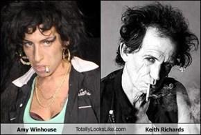 Amy Winhouse TotallyLooksLike.com Keith Richards