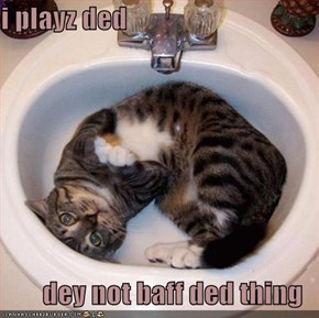 i playz ded  dey not baff ded thing