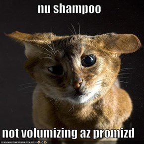 nu shampoo  not volumizing az promizd