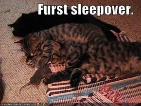 Furst sleepover.