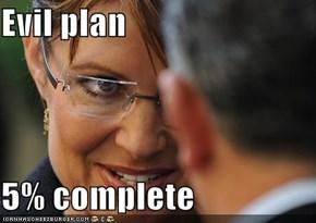 Evil plan  5% complete