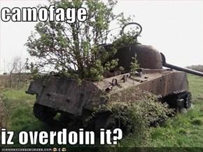 camofage  iz overdoin it?