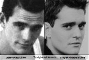 Actor Matt Dillon TotallyLooksLike.com Singer Michael Buble'