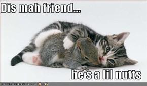 Dis mah friend...  he's a lil nutts