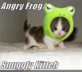 Angry Frog/  Snuggly Kitteh