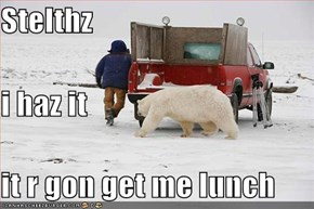 Stelthz i haz it it r gon get me lunch
