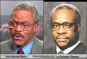 Cnn's Bernie Shaw TotallyLooksLike.com Justi8ce Clarence Thomas