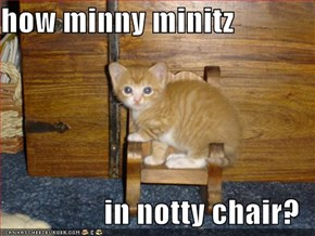 how minny minitz  in notty chair?