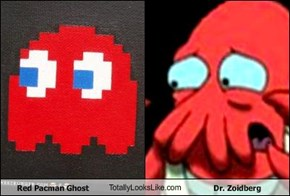 Red Pacman Ghost TotallyLooksLike.com Dr. Zoidberg