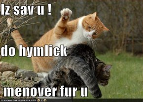 Iz sav u ! do hymlick  menover fur u