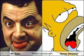 Mr. Bean TotallyLooksLike.com Homer Simpson