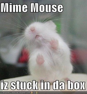 Mime Mouse  iz stuck in da box