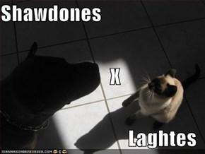 Shawdones         X Laghtes