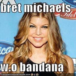 bret michaels  w.o bandana