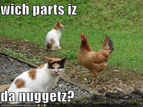 wich parts iz   da nuggetz?