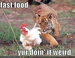 fast food  yur doin' it weird